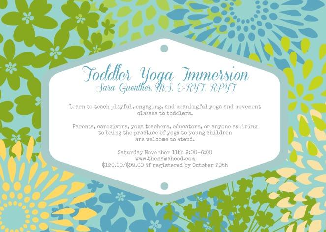 Toddler Yoga Immersion